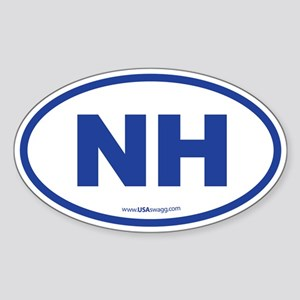 New Hampshire NH Euro Oval Sticker (Oval)