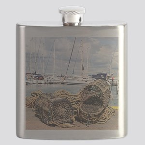 Lobster pots, Yarmouth, England Flask