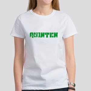 Quinten Name Weathered Green Design T-Shirt