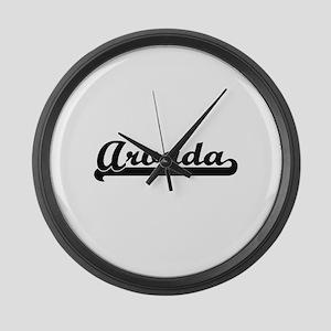 Arvada Colorado Classic Retro Des Large Wall Clock
