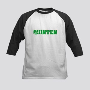 Quinten Name Weathered Green Desig Baseball Jersey