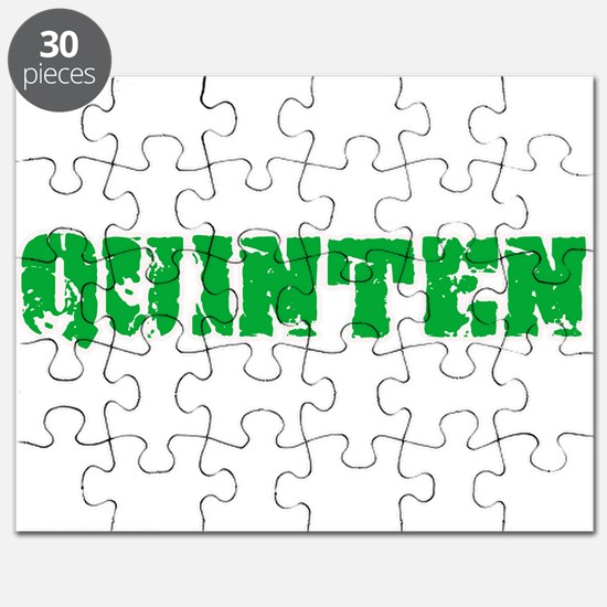Quinten Name Weathered Green Design Puzzle