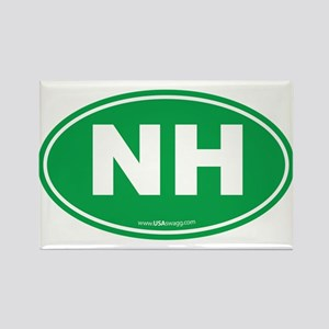 New Hampshire NH Euro Oval Rectangle Magnet