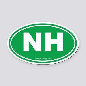 New Hampshire NH Euro Oval Oval Car Magnet