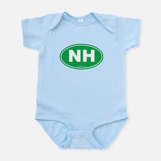 New Hampshire NH Euro Oval Infant Bodysuit