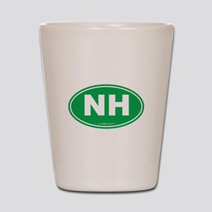 New Hampshire NH Euro Oval Shot Glass