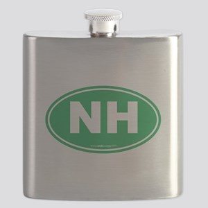 New Hampshire NH Euro Oval Flask