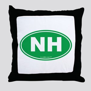 New Hampshire NH Euro Oval Throw Pillow