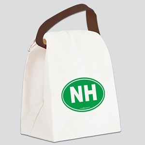 New Hampshire NH Euro Oval Canvas Lunch Bag