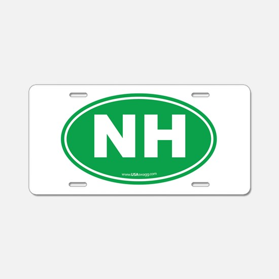 New Hampshire NH Euro Oval Aluminum License Plate