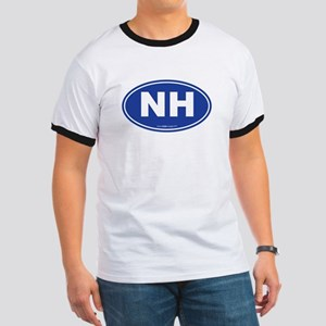 New Hampshire NH Euro Oval Ringer T