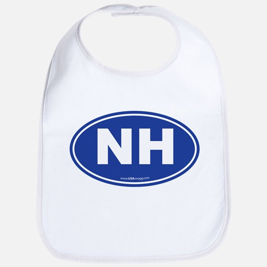 New Hampshire NH Euro Oval Bib