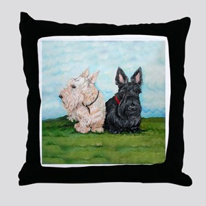 Scottish Terrier Companions Throw Pillow