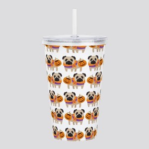 Trick or Treat Pug Acrylic Double-wall Tumbler