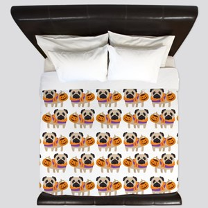 Trick or Treat Pug King Duvet