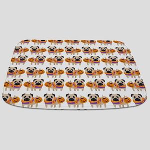 Trick or Treat Pug Bathmat