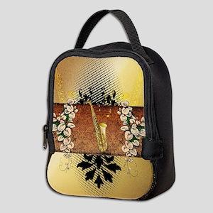 Saxophone Neoprene Lunch Bag