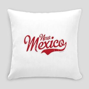 New Mexico Script Font Crimson Everyday Pillow