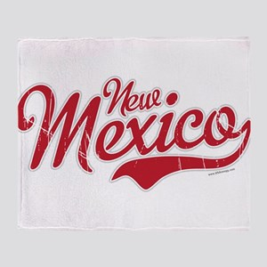 New Mexico Script Font Crimson Throw Blanket