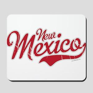 New Mexico Script Font Crimson Mousepad