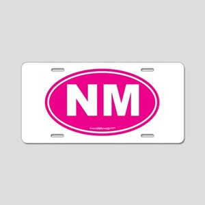 New Mexico NM Euro Oval Aluminum License Plate
