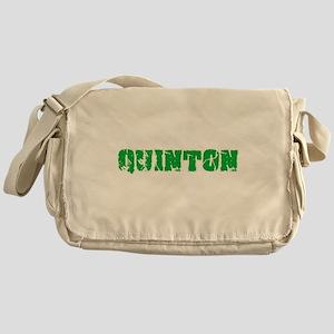 Quinton Name Weathered Green Design Messenger Bag