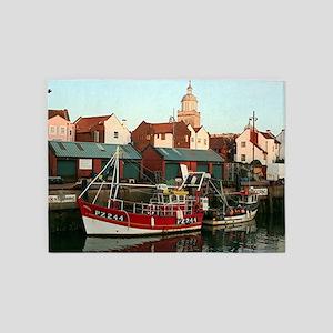 Fishing boat, Portsmouth, England 5'x7'Area Rug
