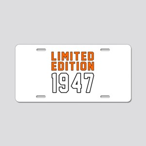 Limited Edition 1947 Aluminum License Plate