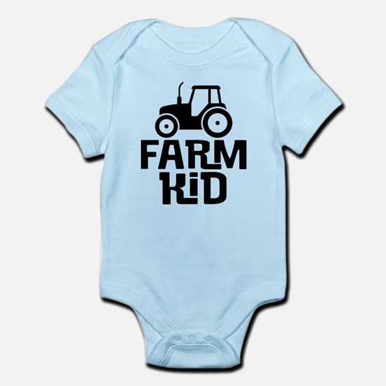 Cute Kids Tractor Body Suit