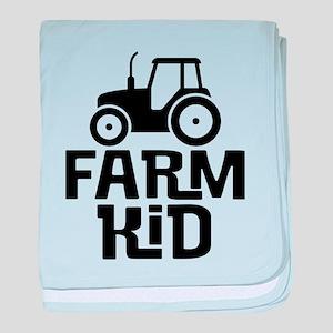 Cute Kids Tractor baby blanket