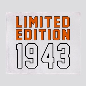 Limited Edition 1943 Throw Blanket