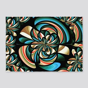 Almost floral abstract 5'x7'Area Rug
