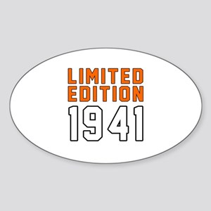 Limited Edition 1941 Sticker (Oval)