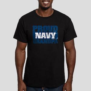 Proud Navy Grandpa Men's Fitted T-Shirt (dark)