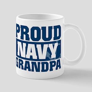 Proud Navy Grandpa 11 oz Ceramic Mug