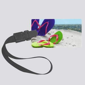 beach sandals Large Luggage Tag