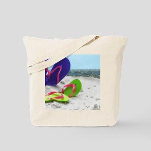 beach sandals Tote Bag