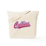 Cubbies Baseball Script Tote Bag