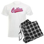 Cubbies Pink Camo Baseball Sc Men's Light Pajamas