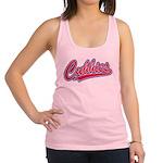 Cubbies Pink Camo Baseball Scri Racerback Tank Top