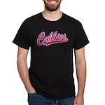 Cubbies Pink Camo Baseball Script Dark T-Shirt