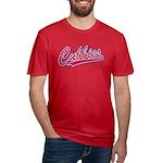 Cubbies Baseball Scrip Men's Fitted T-Shirt (dark)