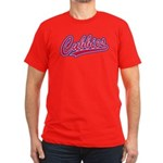 Cubbies Pink Camo Base Men's Fitted T-Shirt (dark)