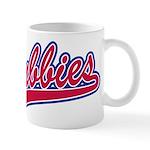 Cubbies Baseball Script Mug