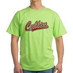Cubbies Baseball Script Green T-Shirt