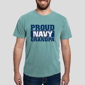 Proud Navy Grandpa Mens Comfort Colors Shirt