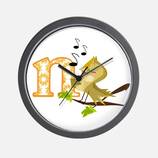 N Is For Nightingale Wall Clock