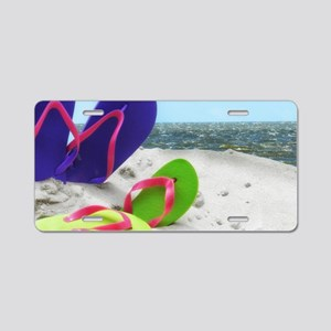beach sandals Aluminum License Plate