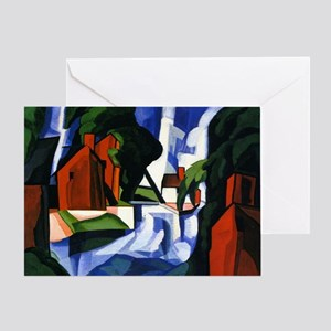 Bluemner painting, Blue Day Greeting Card
