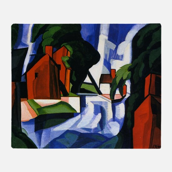 Bluemner painting, Blue Day Throw Blanket
